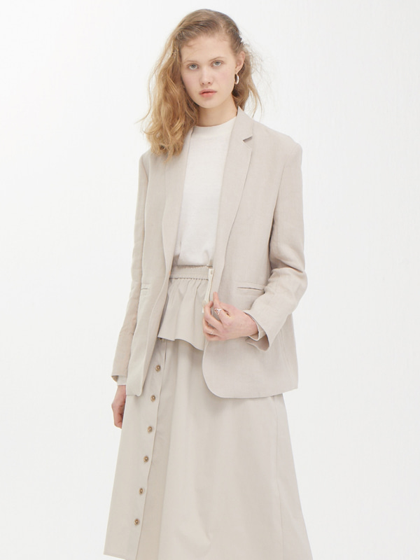 One Button Jacket / Beige