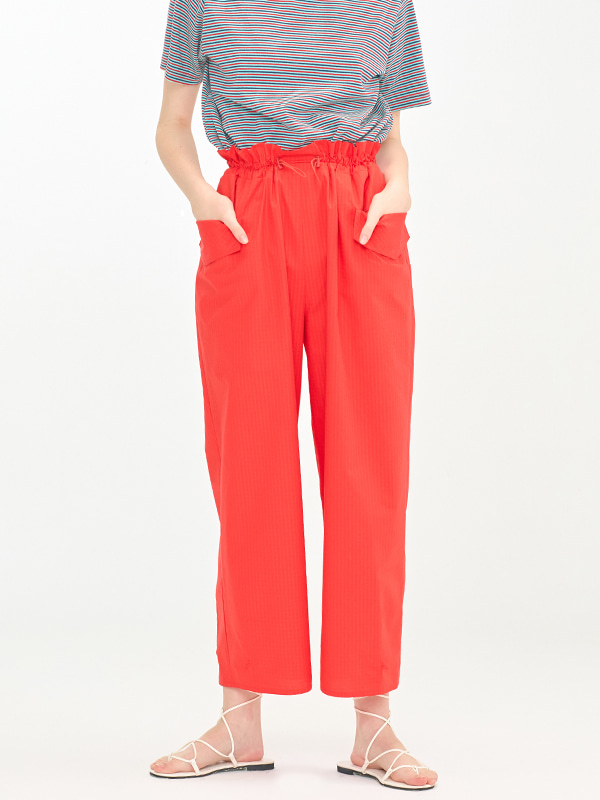 Volume Banding Pants / Red