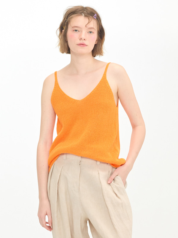 Ribbed Natural Slip / Orange